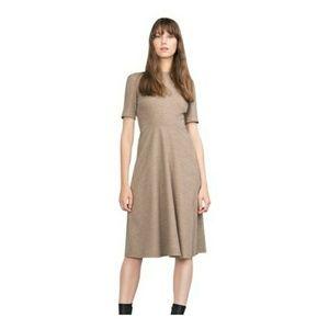 Zara Woman Wool Blend Short Sleeve Dress